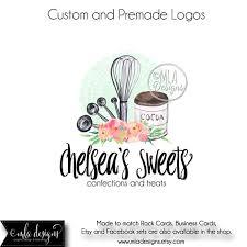 Bakery Logos Design Baking Logo Premade Logo Baking Watercolor Logo Bakery Logo Logo Designs Premade Logo Custom Logo Design Boutique Logo Cupcake Logo