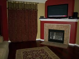 attractive living room decoration with tile fireplace surrounds fair living room decoration using red fireplace