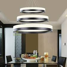 40RingsPendantLightCirclesChandelierDiningRoomCeilingLamp Mesmerizing Lamp For Dining Room