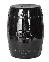 black garden stool.  Stool Amazoncom  Asian Chinese Black Ceramic  Porcelain Oriental Round Garden  Stool Seat Furniture U0026 Outdoor On N