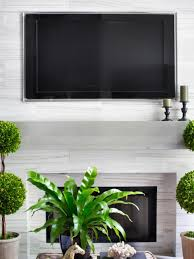 Wall Mounted Tv Frame Installing A Tv Above The Fireplace Hgtv