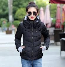 women winter coats plus size korean long sleeve warm light down padded winter jacket women parkas