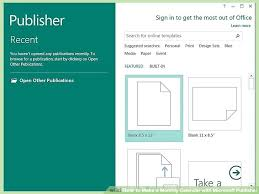 Template Image Titled Make A Monthly Calendar With Publisher Step 1
