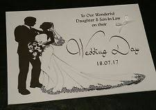 daughter wedding card ebay Handmade Wedding Cards For Daughter And Son In Law personalised gemstones wedding day card daughter son in law sister brother Anniversary Son and Daughter in Law