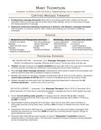 Massage Therapist Resume Examples Recent Mobile Massage Business