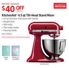 kitchenaid 4 5 quart tilt head stand mixer. kitchenaid mixers at costco deal - 4.5 qt tilt-head stand mixer 4 5 quart tilt head