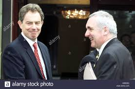 British Primer Minister Tony Blair (L) meets his Irish counterpart Stock  Photo - Alamy