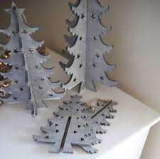 Grey Christmas Tree Grey Scandi Christmas Tree Decoration By Red Lilly