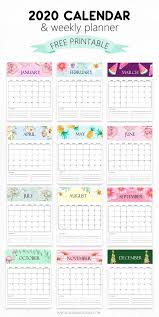 2020 Printable Calendar Yearly Free Calendar 2020 Printable 12 Cute Monthly Designs To