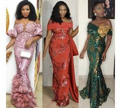 Lace African Dresses Design 2018 Asoebi Collection Styles African Fashion Dresses African