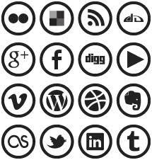 social media icons black and white. wp7 metro social media icons by blnkdsgn black and white