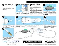 Waterfilter Inline Water Filter Kit For Refrigerators And Ice Makers