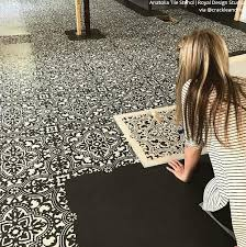 anatolia tile stencil black and white floor stencils88 stencils