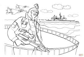 Navy Seals Soldier Coloring Page Free Printable Pages Throughout