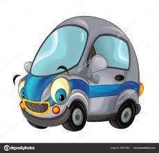 Cartoon Glücklich Und Lustige Polizei Auto Stockfoto