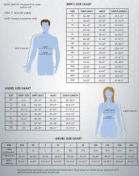 Crossland Soft Shell Jacket Size Chart Size Chart Fossa Apparel