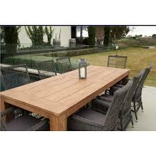 teak outdoor table