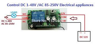 key keyfob one channel wireless relay switch dc v m rf wiring diagram 2 ak026 15