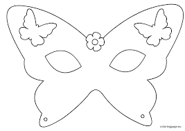 Butterfly Cutouts Template Mask Printable Templates Luxury Child Eye Batman Party City Of Cut