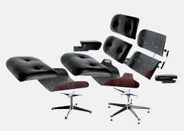vitra eames lounge chair  ottoman (classic) black