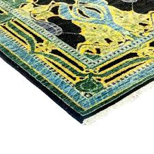arts and crafts area rugs yellow wool rug 4 1 x 5 a arts and crafts area rugs