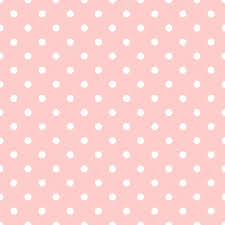 tile vector pattern with white polka dots on pastel pink background stock vector