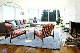century modern living room chairs stainless steel base legs and elegant gray paint wall small square side table rectangle cream color fur rugs on wood