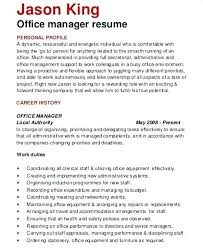Office Manager Resume Bullet Points Office Manager Resumes Office