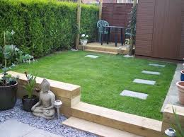Small Picture railway sleepers small garden design ideas small patio deck lawn
