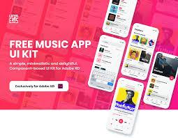 Free Music App Ui Kit For Adobe Xd Ux Planet