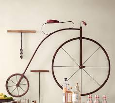 >high wheel bicycle wall art pottery barn high wheel bicycle wall art