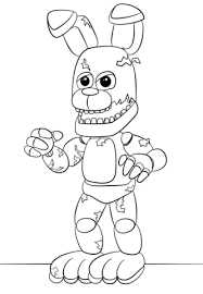 Fnaf Springtrap Coloring Page Five Nights At Freddys Coloring