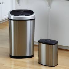 Nine Stars DZT-80-4 Touchless Stainless Steel 21.1 Gallon Trash Can |  Hayneedle