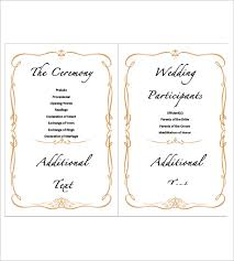 Wedding Agenda Template 9 Wedding Agenda Templates Free Sample Example Format Download