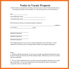Notice To Vacate Letter Day Notice To Landlord Template Unique Letter Tenant Rental