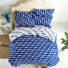 Ocean Shark Print Duvet Cover Queen Twin Size,4pc bed Sheet,100 ... & Ocean Shark Print Duvet Cover Queen Twin Size,4pc bed Sheet,100% Polyester Adamdwight.com