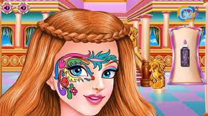 play fun care kids games princess fashion dress designer makeup make