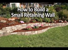 how to build a small retaining wall in