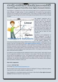 help assignment portal offers linear algebra homework help assignment portal offers linear algebra homework solutions by melyjess issuu