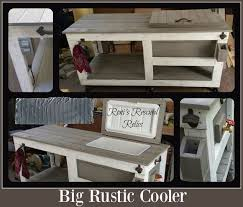 rustic style furniture. big rustic style cooler outdoor furniture woodworking projects s
