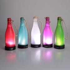 Decorated Plastic Bottles 60pcs Colorful led solar bottle light waterproof LED plastic 57