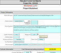 construction estimate sample project cost estimating spreadsheet for contractors