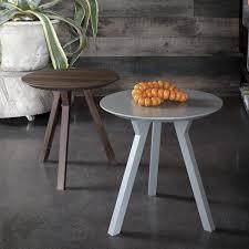 bim round 3 legged side table version in heat treated oak wood veneer