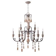 kenroy home alexandra 9 light white chandelier