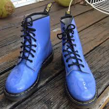 details about dr martens docs blue patent leather combat boots womens 7 uk 5 eur 38 1460 shoes