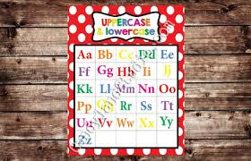Uppercase Lowercase Alphabet Chart Restickable Poster Choice Of Color