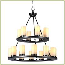rectangular candle chandelier pillar rectangle round faux recta