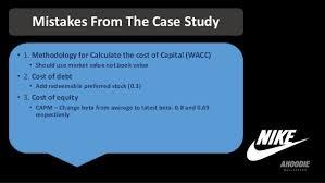 Case Study Nike Inc Cost of Capital   Nike Inc Cost of     SlideShare