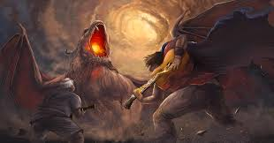 Facing the Dragon Digital Art by Amelia Sims