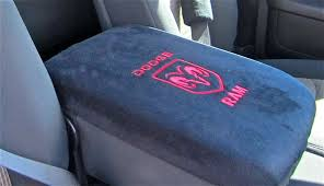 2016 dodge ram 1500 seat covers center console cover embroidered for dodge ram in lt dk